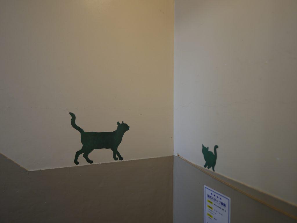 猫式階段かわいい踊り場